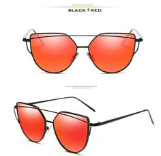 VCKA Cat Eye Sunglasses Women Brand Vintage Fashion Rose Gold Mirror Sun Glasses Unique Flat Ladies Sunglasses Oculos UV400