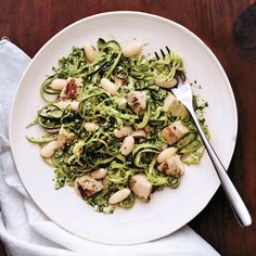 Zucchini Pasta With White Beans and Grilled Chicken - SELF