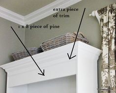 How to add crown molding to bookcases for a little bling :)