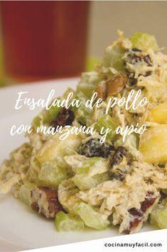 Para la comida de hoy, te proponemos esta saludable ensalada de pollo con manzana y nuez ¡nuestra favorita! http://cocinamuyfacil.com/receta-de-ensalada-de-pollo-con-manzana-y-nuez/