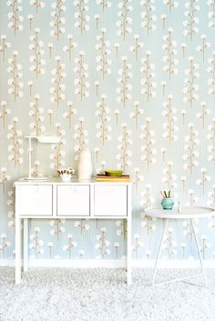 New whimsical wallpaper collection called My Secret Garden designed by Charlotta Sandberg and made in Sweden.