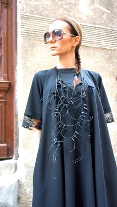 NEW Collection SS/15 Black Extravagant  Leather Macrame by Aakasha