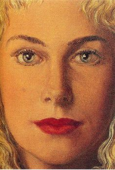 Anne-Marie Crowet, 1956 by Rene Magritte, Mature Period. Surrealism. portrait
