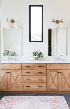 Home Decor Industrial The Mountain View House Master Bathroom Reveal.Home Decor Industrial The Mountain View House Master Bathroom Reveal Wood Bathroom, Bathroom Renos, Bathroom Cabinets, Wood Cabinets, Bathroom Interior, Modern Bathroom, Small Bathroom, Bathroom Remodeling, Bathroom Ideas