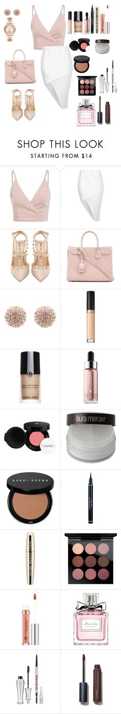 """Untitled #111"" by rahmadita14 on Polyvore featuring Boohoo, Valentino, Yves Saint Laurent, Too Faced Cosmetics, Giorgio Armani, Cover FX, Lancôme, Laura Mercier, Bobbi Brown Cosmetics and Christian Dior"