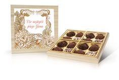 Navrhni si vlastní čokoládu na MojeBonboniera.cz! Barware, Coasters, Place Cards, Decorative Boxes, Place Card Holders, Home Decor, Decoration Home, Room Decor, Coaster