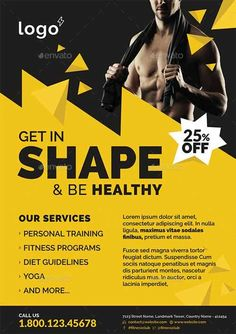 Gym Advertisement Design Tips [With Illustrated Layout Examples] - - Skyrocket memberships with an impactful gym advertisement. Get practical design tips with examples from Equinox, Anytime & Gold's Gym. Fitness Flyer, Fitness Gym, Fitness Studio, Fitness Sport, Gym Advertising, Advertising Design, Flyer Design Inspiration, Sport Inspiration, Fitness Design
