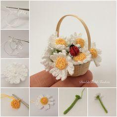 Crocheted daisies - Double Treble Trinkets by Uljana