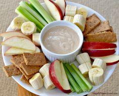 Gebruik eens een andere dip meng yoghurt met pindakaas.