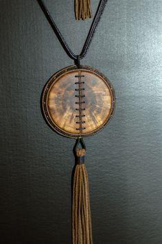 "Necklace ""Circles of plum"""