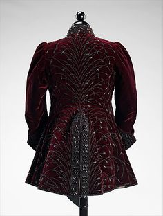 Evening jacket House of Worth Designer: Charles Frederick Worth (French (born England), Bourne 1825–1895 Paris) Date: ca. 1890 Culture: French Medium: silk, jet, linen
