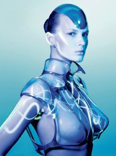 Thierry Mugler © Richard Burbridge - The Future of Fashion.  Loving the futuristic look with the structure and look of the garment.