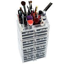 Unique Home Acrylic Jewelry & Cosmetic Storage Makeup Organizer, 5 Piece Set |