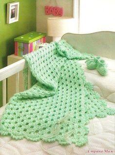 Delicadezas en crochet Gabriela: Manta de bebé