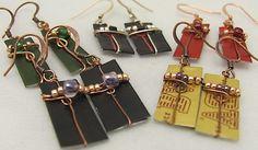 Wholesale Earrings. Bottle Wine Foil Earrings. by ruddlecottage