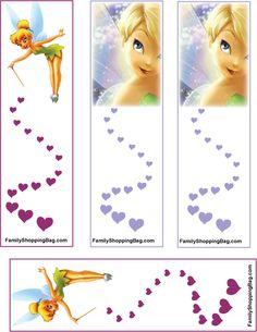 Tinker Bell, Tinker Bell & Peter Pan, Bookmarks - Free Printable Ideas from… Disney Bookmarks, Bookmarks For Books, Tinkerbell And Friends, Tinkerbell Party, Disney Diy, Disney Crafts, Fairy Birthday Party, Disney Images, Disney Scrapbook
