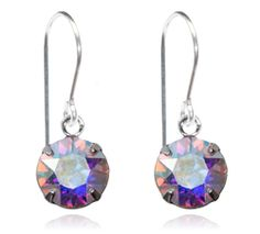 Iridescent Single Crystal Drop Earrings - $9.80