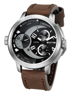 Extri X3013-B Exceed dual time men's watch 53mm