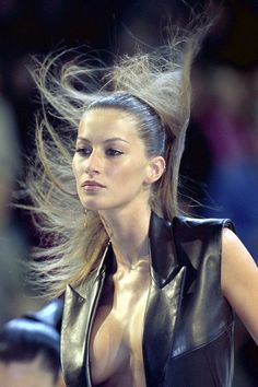 10 best Gisele Beauty looks: Whip it Good; Givenchy Spring 1999.