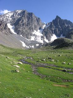 Kavrun Plateau in Kaçkar Mountains and it ice lakes, Rize