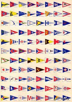 1940s Yacht Club Pennants