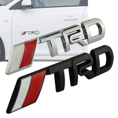 For Toyota 3D Chrome TRD Racing Development Logo Metal Emblem Badge Car Styling Decal Car Tail Door Head Emblem  #Affiliate
