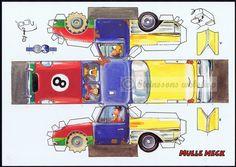 Steinssons - papir-ark Mulle-Meck, bil,svensk