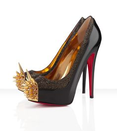 "Christian Louboutin - ""Asteroid 160,"" dawned with all her glitz and glamour, is completely out of this world! The starry night above is mirrored below as this version in black lady glitter brings you to new heights."