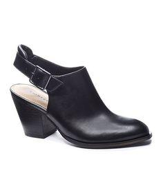 Look at this #zulilyfind! Black Katrina Leather Bootie #zulilyfinds