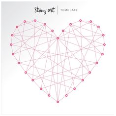 Heart String Art Template by Chris and Paige: December 2015 More