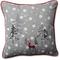 Christmas & Holiday Pillows You'll Love | Wayfair (37 BAM) ❤ liked on Polyvore featuring home, home decor, holiday decorations, christmas holiday decorations, holiday home decor, holiday decor and christmas holiday decor