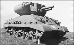 T31 Demolition Tank - It was armed with 105 mm howitzer and two 7.2 inch rocket launchers. As far as I know the project was canceled after some tests in Aberdeen in late 1945