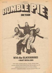 Humble Pie Tour 1973