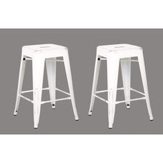 Vintage Industrial 24-inch Stools (Set of 2)   Overstock.com Shopping - The Best Deals on Bar Stools