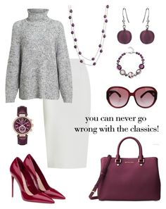 """Plum."" by schenonek on Polyvore featuring moda, Michael Kors, Roland Mouret, Alexander Wang, Miu Miu, Martick y Chanel"