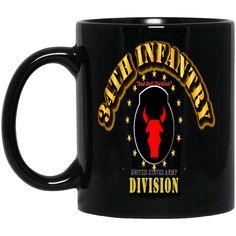 34TH INFANTRY DIVISION RED BULL DIVISION BM11OZ 11 oz. Black Mug