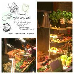 Servicering af lækre Grillede grøntsager med særlige saucer til