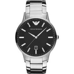 AR2457 - Emporio Armani Mens Classic Black Silver Watch