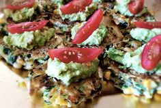 Zucchini & Corn Fritters with Smashed Avocado