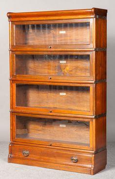 Antique Globe Wernicke Stacking Bookcase