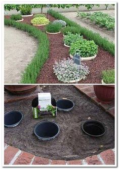 Simple, easy and cheap DIY garden landscaping ideas for front yards and backyard. - Simple, easy and cheap DIY garden landscaping ideas for front yards and backyards. Many landscaping ideas with rocks for small areas, for … Garden Yard Ideas, Garden Projects, Garden Design Ideas On A Budget, Garden Ideas Diy Cheap, Herb Garden Design, Diy Ideas, Simple Backyard Ideas, Garden Diy On A Budget, Garden Bar