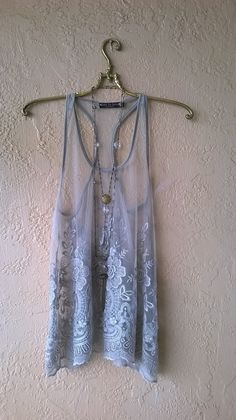 Violet grey Lace tunic