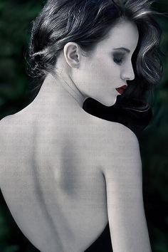 Normal woman side profile nude
