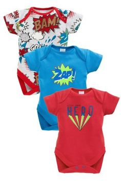 Buy Three Pack Bright Comic Book Short Sleeve Bodysuits (0mths-2yrs) online today at Next: United States of America