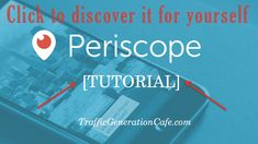 Discover Periscope for yourself: http://tgcafe.it/periscope-tutorial?utm_content=buffer01c56&utm_medium=social&utm_source=pinterest.com&utm_campaign=buffer => Your business will thank you.