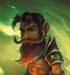 Gnome warrior by Joan Maurel on ArtStation. Fantasy Portraits, Character Portraits, Fantasy Character Design, Character Art, Character Reference, Character Ideas, D D Characters, Fantasy Characters, Dungeons And Dragons Races