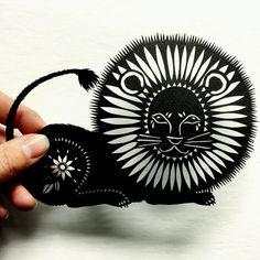 Rawrrrrr. #lion #papercutting