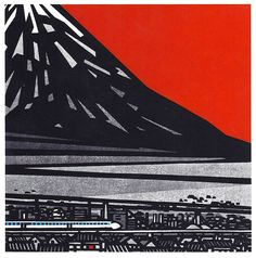 Nippon… What do you think? Clifton-W-Karhu-and-Henry-Steiner Japanese Art, Printmaking, Japanese Modern, Japanese Woodblock Printing, Illustration Art, Art, Ukiyoe, Prints, Scenery