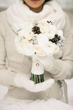 Love the cardigan idea for winter wedding dress