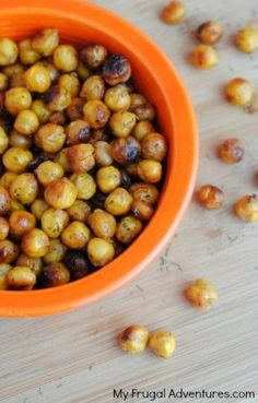 Ranch Roasted Chickpeas- a perfect quick and delicious snack!  Great alternative to chips and the kids will love these!